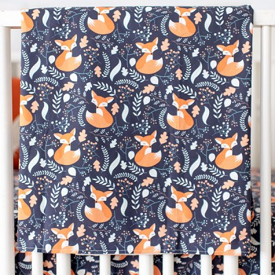 Fox Baby Blanket | Fox Trot Crib Collection