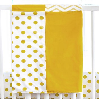Gold Chevron Baby Blanket | Gold Rush Collection