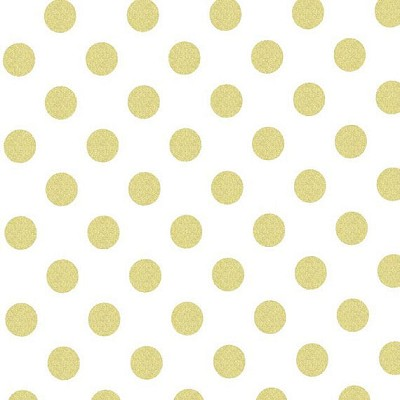 Gold Quarter Dot Pearlized Glitz by Michael Miller