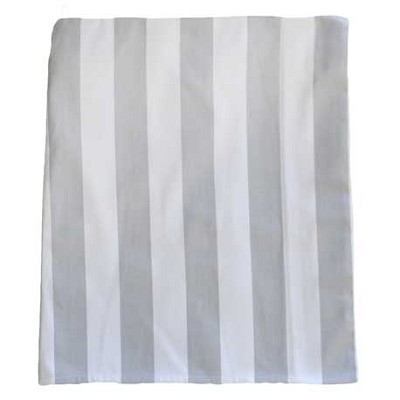 White and Gray Stripe Crib Skirt