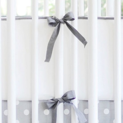 Grey and White Bumper | Zig Zag Baby Crib Collection
