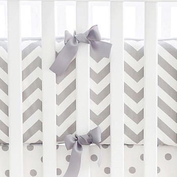 White and Gray Chevron Bumper