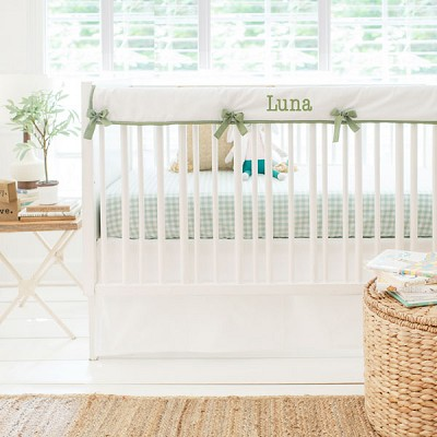 Green Crib Bedding | Gingham Collection