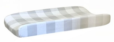 Grey Changing Pad Cover | Grey Buffalo Check Crib Collection