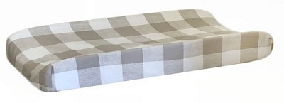 Khaki Plaid Changing Pad Cover | Khaki Buffalo Check Crib Collection