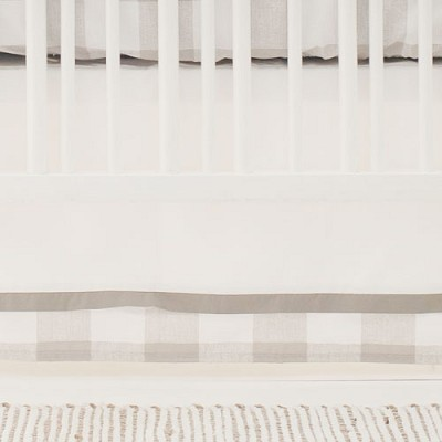 Buffalo Plaid Crib Skirt | Khaki Check Collection