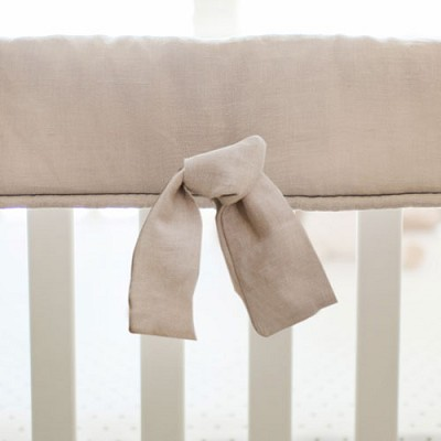 Crib Rail Guard | Washed Linen in Flax Collection