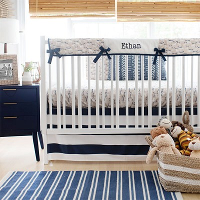 Woodland Crib Rail Cover Bedding | Moose Trail Collection