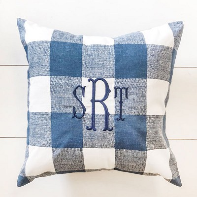 Blue Buffalo Plaid Pillow | Navy Collection
