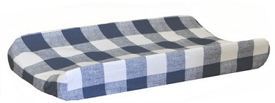 Navy Changing Pad Cover | Navy Buffalo Plaid Crib Collection