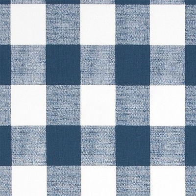 Buffalo Plaid Fabric in Navy