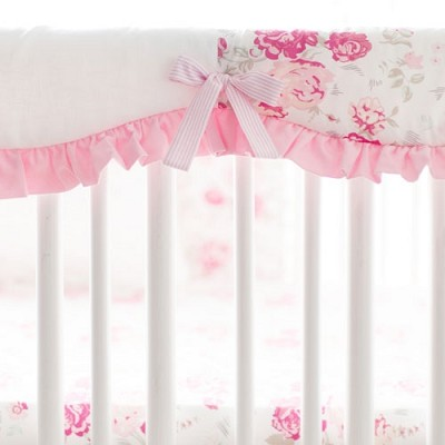 Pink Crib Rail Cover | Nostalgic Rose Collection