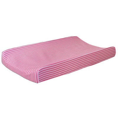 Pink Stripe Changing Pad Cover | Layla Rose Crib Collection
