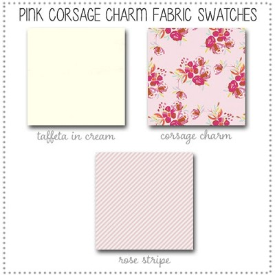 Pink Corsage Charm Crib Collection Fabric Swatches Only