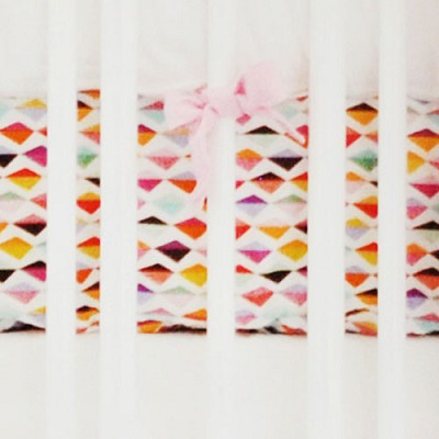 Pink Origami Crib Sheet  | Rhapsody in Pink Collection