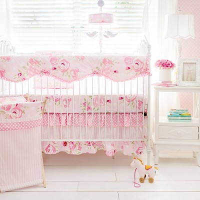 Floral Baby Bedding | Rosebud Lane Crib Collection by My Baby Sam