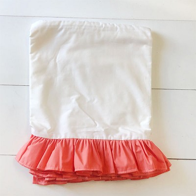 Coral Crib Skirt | Rosewater Collection