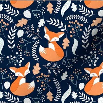 Fox Changing Pad Cover | Fox Trot Crib Collection