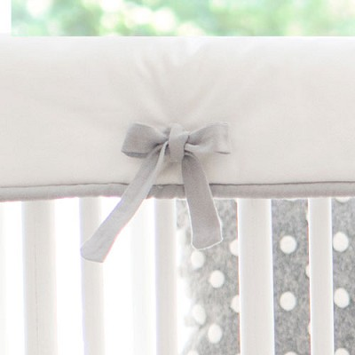 White and Gray Crib Rail Cover | Small Wonders Collection