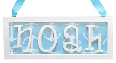Straight Frame Name Plaque - 4 Letters