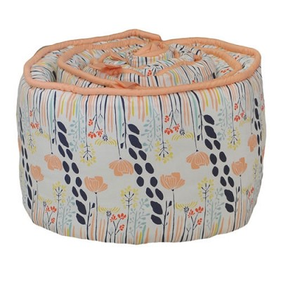 Navy and Peach Floral Bumper | Summer Grove Collection