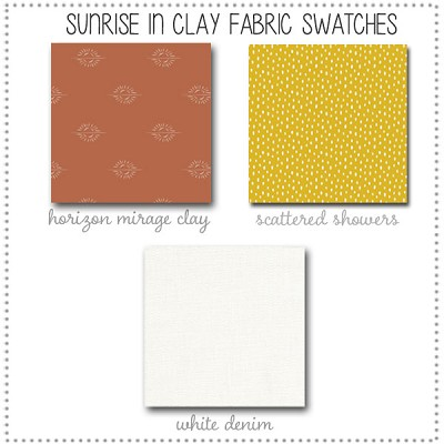 Sunrise in Clay Crib Collection Fabric Swatches Only
