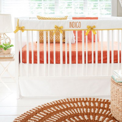 Boho Crib Bedding | Sunrise in Clay Collection