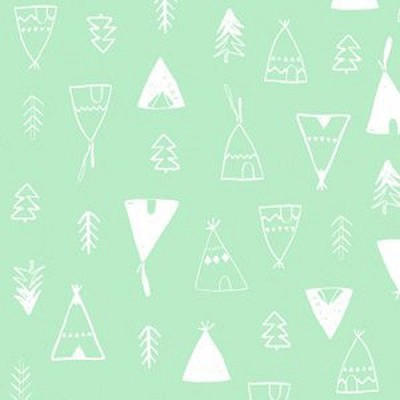 Dear Stella Designs No Drama Llama Teepees Ambrosia Green Fabric