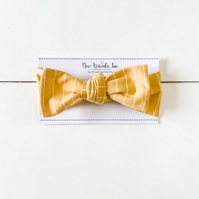 Top Knot Headband - Mustard Stripe