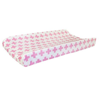 Pink Changing Pad Cover | Uptown in Hot Pink Crib Collection