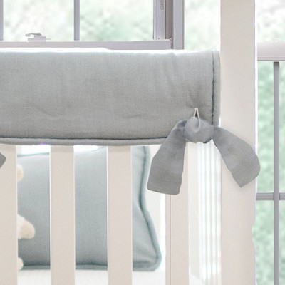 Short Side Crib Rail Guard | Washed Linen in Gray Collection