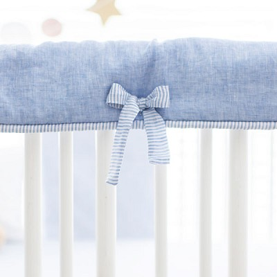 Crib Rail Protector | Washed Linen in Cabo Collection