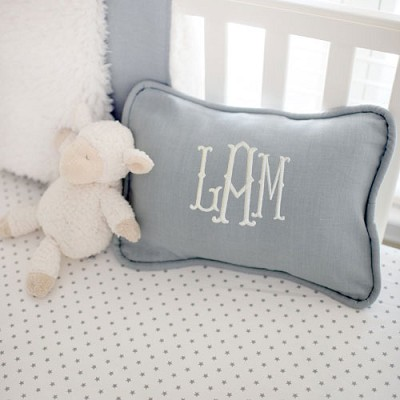 Gray Linen Pillow | Washed Linen in Gray Crib Collection