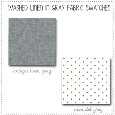 Washed Linen in Gray Crib Collection Fabric Swatches Only