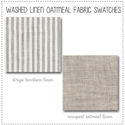 Washed Linen in Oatmeal Crib Bedding Collection Fabric Swatches Only