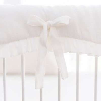 Crib Rail Guard | Washed Linen in White