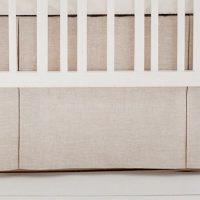 Pleated Crib Skirt | Oatmeal Solid Washed Linen Collection