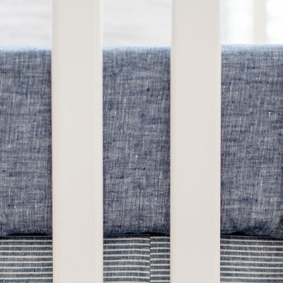 Linen Nursery Sheet | Washed Linen in Indigo Collection