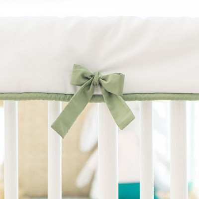 Green and White Crib Rail Guard | Gingham Collection