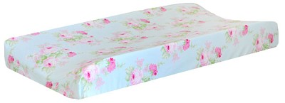 Floral Changing Pad Cover | Wild Bouquet in Aqua Crib Collection