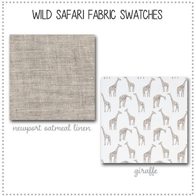 Wild Safari Crib Collection Fabric Swatches Only