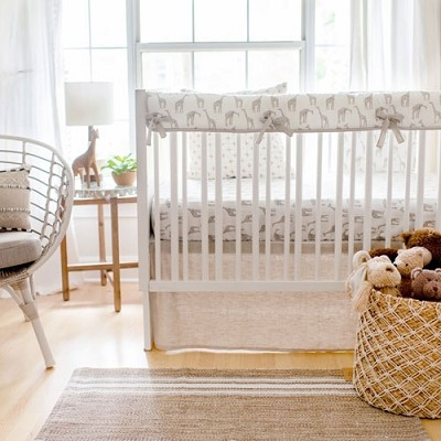 Wild Safari Crib Bedding Set | Giraffe Nursery Collection