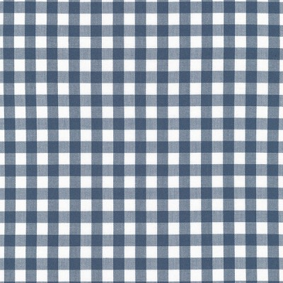 Gingham Fabric in Slate
