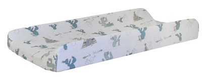 Cactus Muslin Changing Pad Cover | Young and Brave Crib Collection