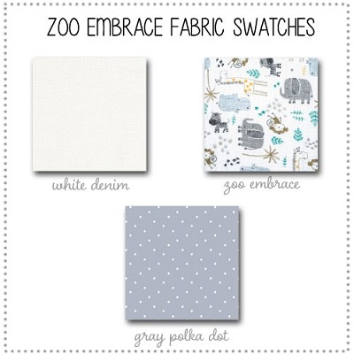 Zoo Escape Bedding Collection Fabric Swatches Only