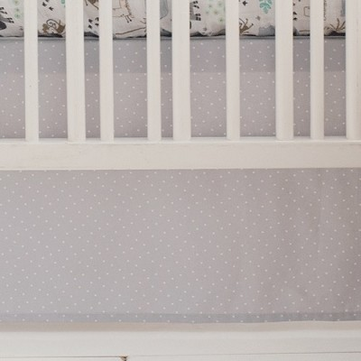 Grey Crib Skirt | Zoo Escape & Saltwater Friends Crib Collections
